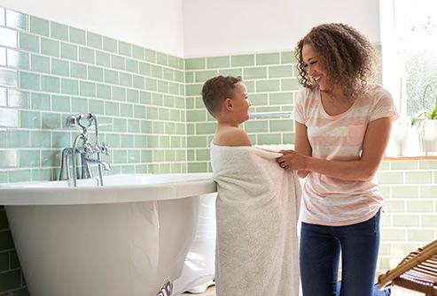 bath towels with mama